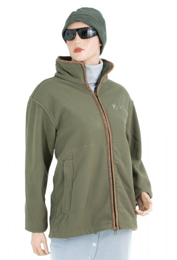 RJ Polo Fleece Jacket in Olive